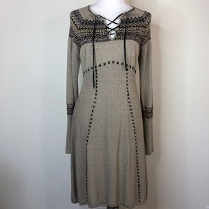 Double D. Ranch long sleeve sweater dress